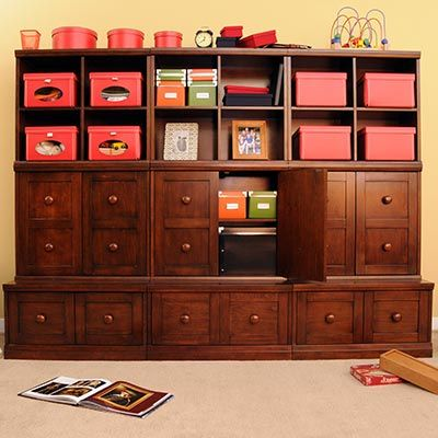 I love this storage unit @ Costco Adrianne 9-piece Chestnut Modular ...