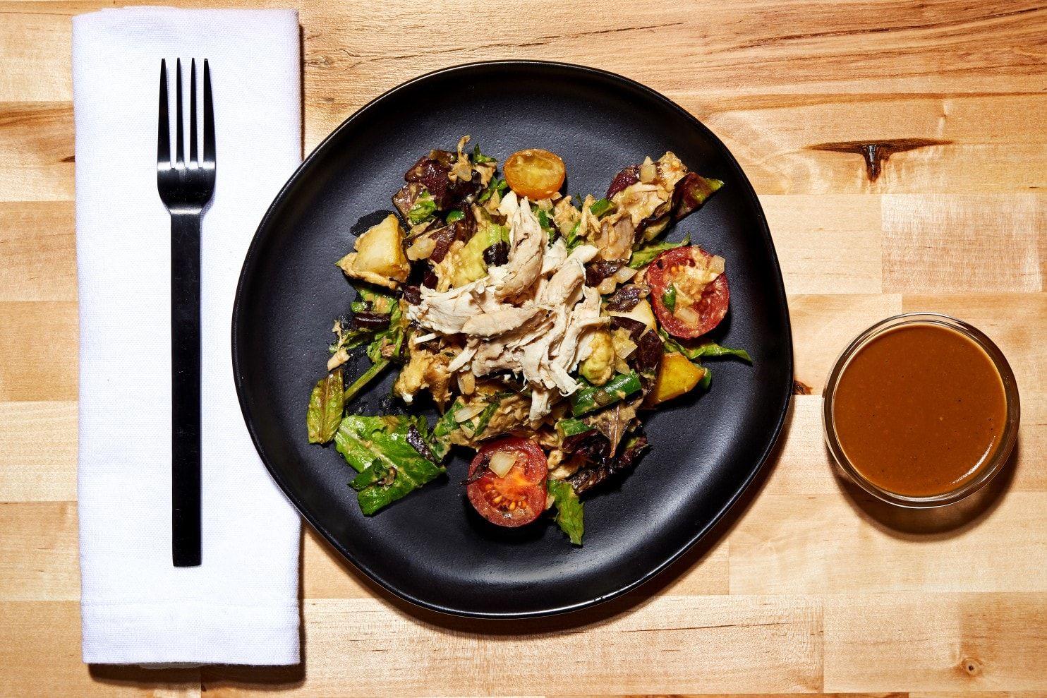 Freds Chopped Chicken Salad Recipe Chopped Salad Vegetable Recipes Salad Recipes