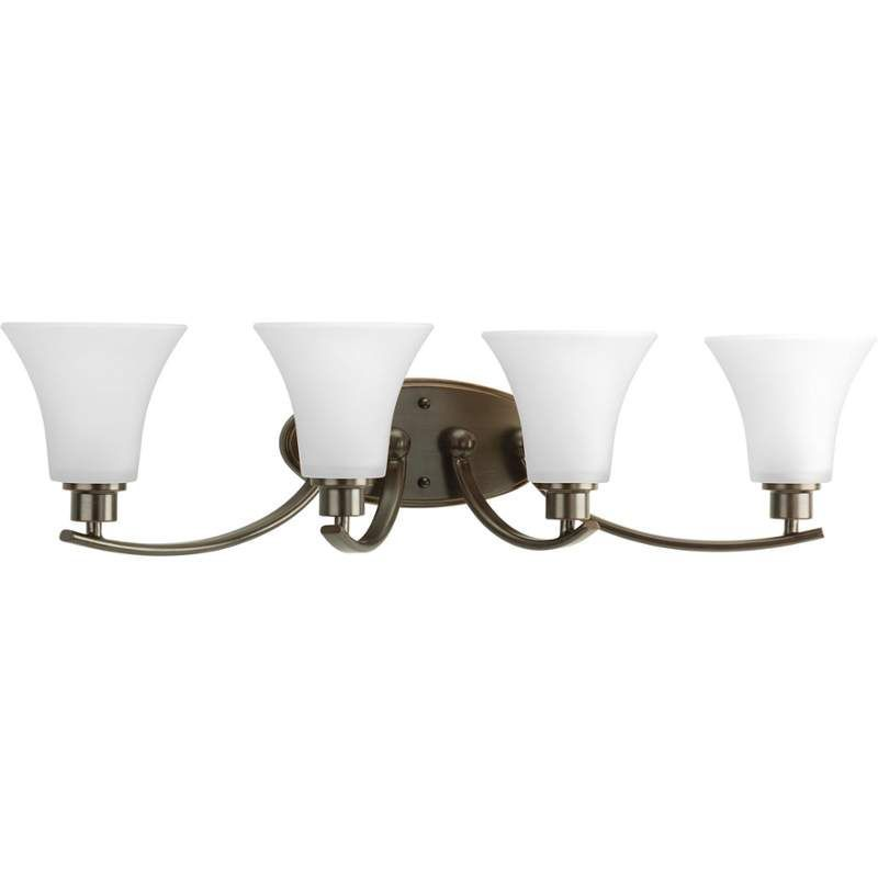 "Progress Lighting P2003 Joy 30"" Wide 4 Light Vanity Light with Bell Shades"