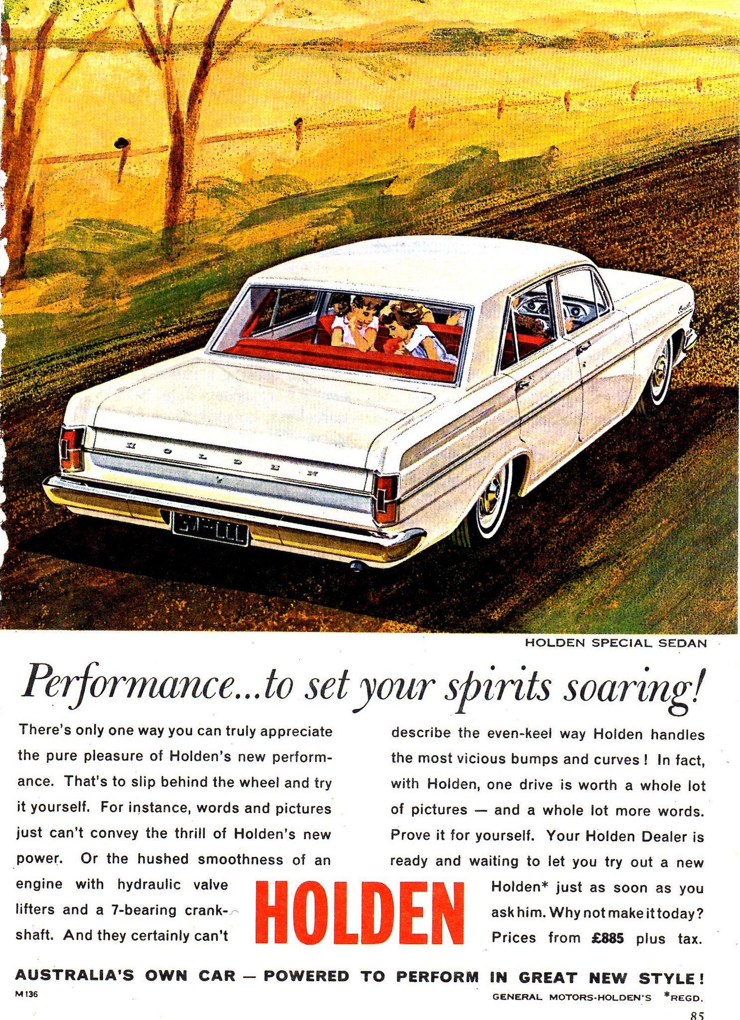 1964 Eh Holden Special Aussie Original Magazine Advertisement Euro
