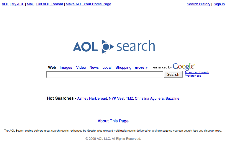 The Aol Is Another Popular Search Engine In The World Which Is Something Same As Yahoo It Is Also Offers Features Like Aol Music Aol Mail Aol Software
