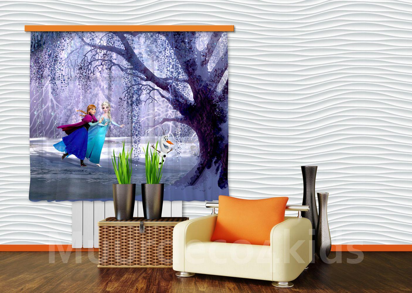 Frozen fotoprint gordijnen, prachtige kwaliteit. Geschikt voor een ...