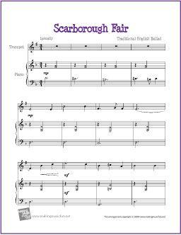 Scarborough Fair Trumpet Sheet Music Free Cello Sheet Music