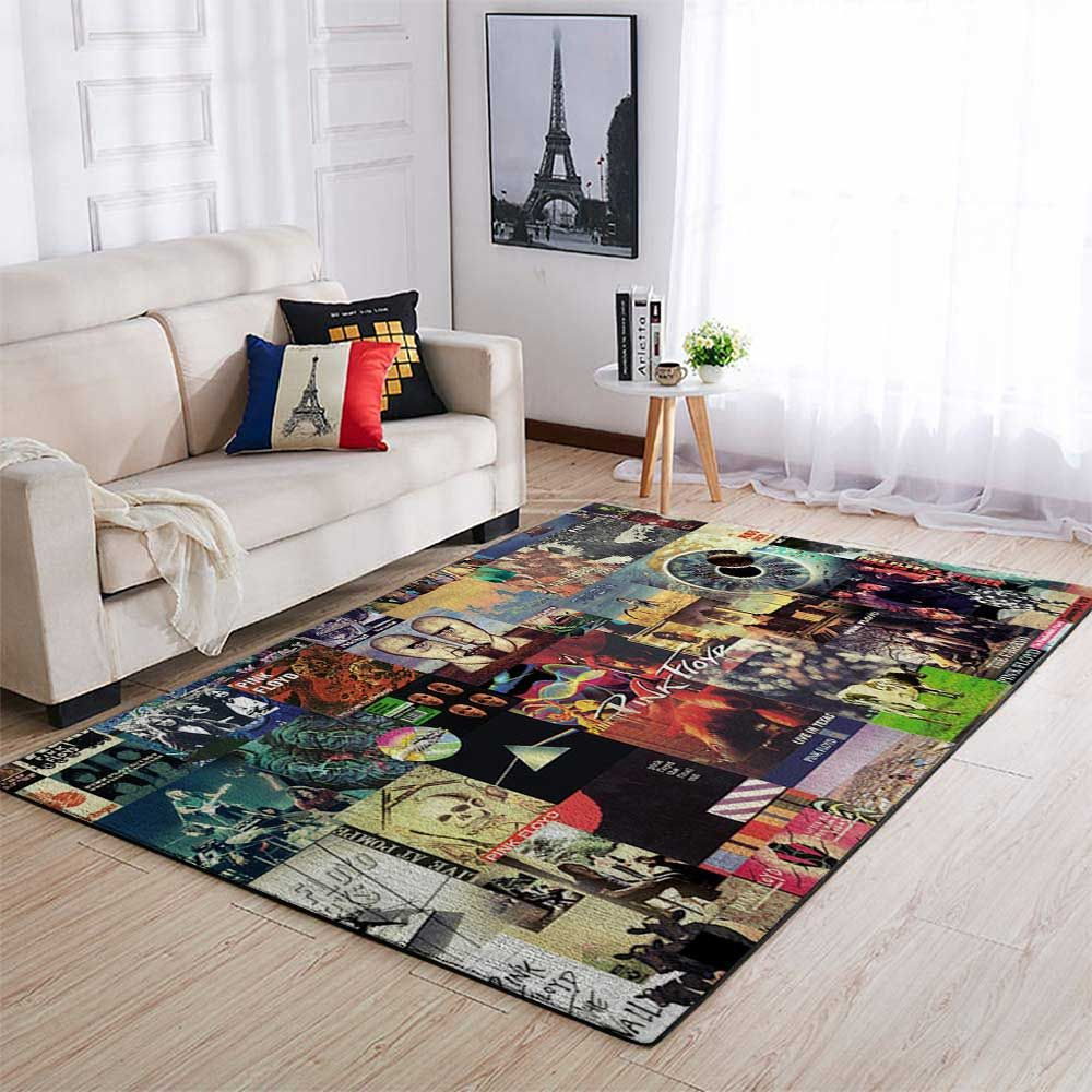 Pink Floyd Al Collage Rug