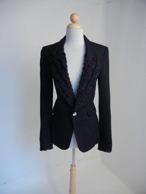 e5082cd03c4 Cosa Nostra Jeffrey Sebelia (Sz.Sm) Black Edgy Steampunk Long Jacket Blazer