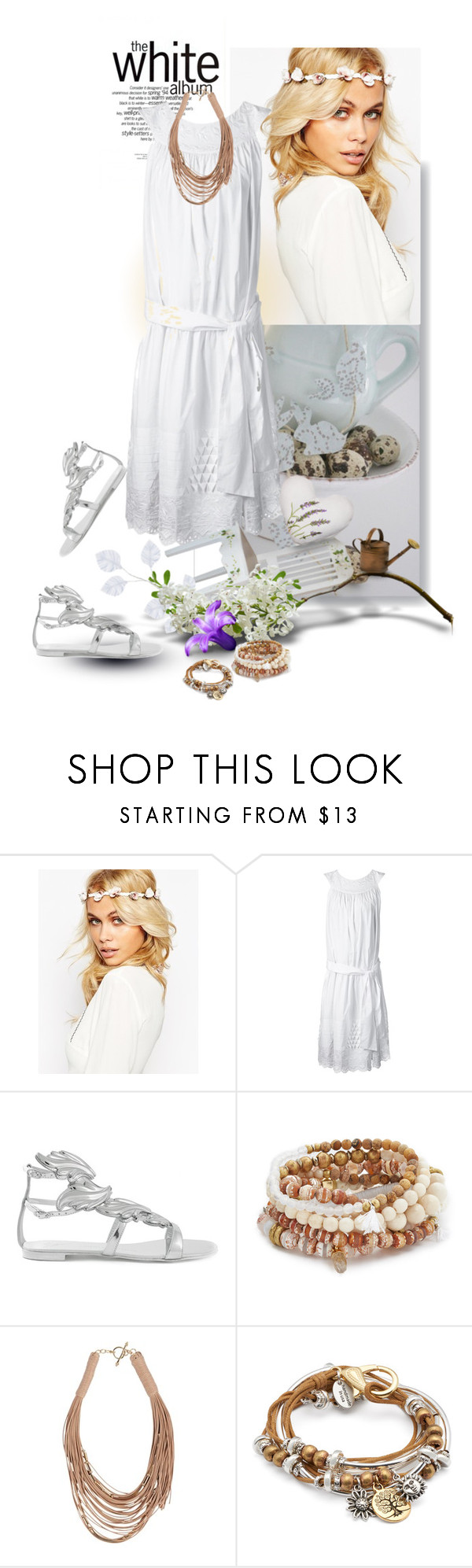 """""""Lovely day"""" by hani-bgd ❤ liked on Polyvore featuring ASOS, SUNO New York, Giuseppe Zanotti, Lacey Ryan, Patchington and Lizzy James"""