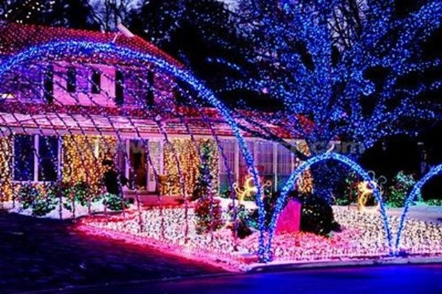 music outdoor christmas lights display your christmas light display could win you a tesla roadster test drive