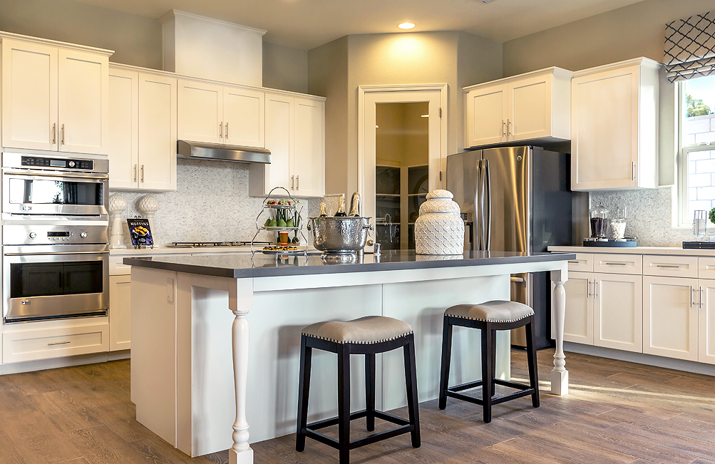 White And Grey Kitchen In Bakersfield, California By D.R. Horton  #FindYourHome