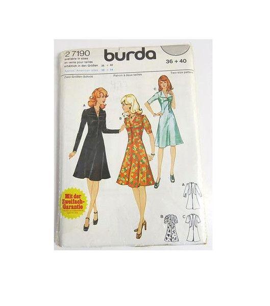 Vintage Schnittmuster Burda Schnittmuster 70er Jahre Kleider