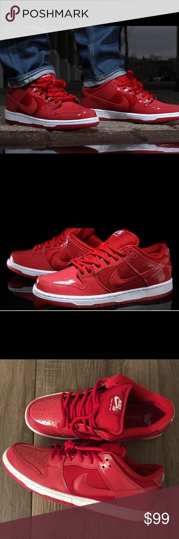 the best attitude aa34b 62c8e ... australia nike dunk low pro red patent leather retro jordan brand new  without box men s