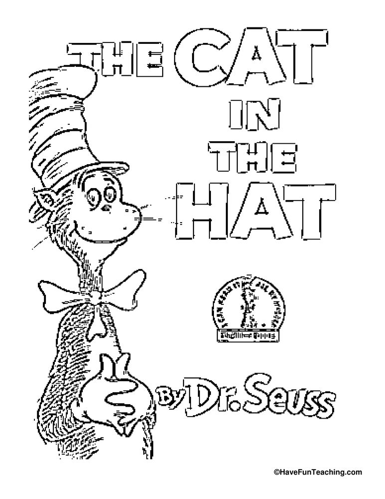 Cat in the Hat Coloring Page Dr seuss coloring pages