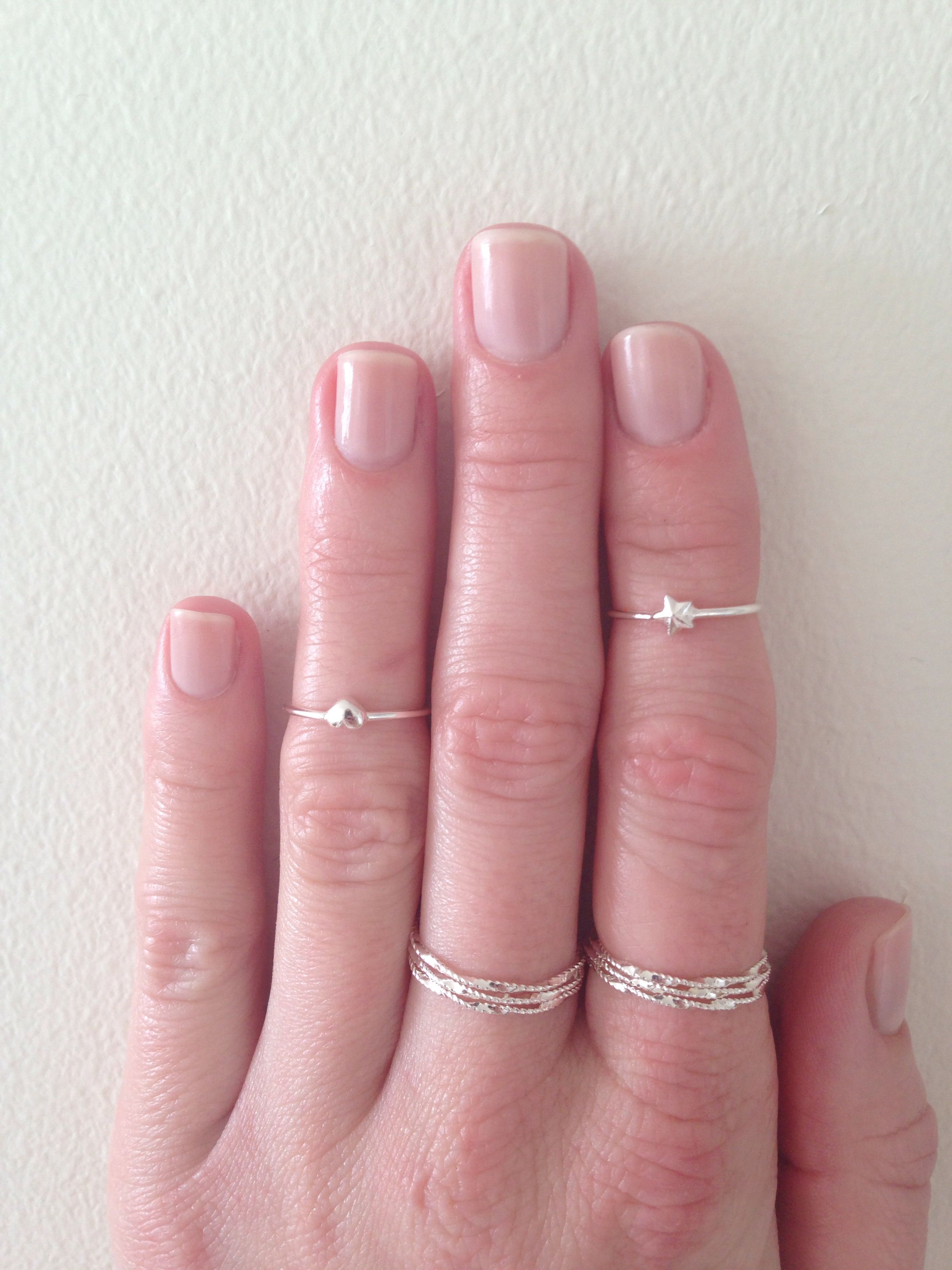 Stacking rings from Glitter and Lindex