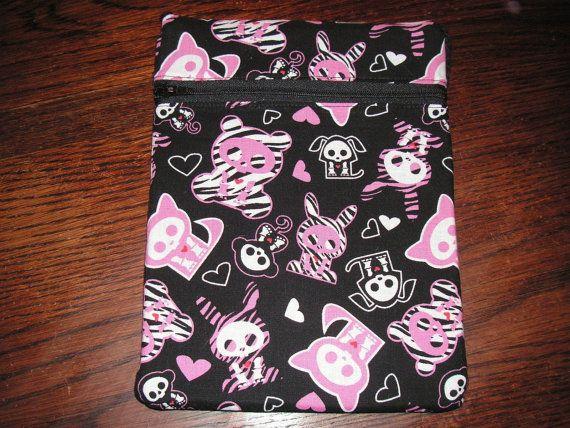 Skelanimals handmade zipper fabric 7 purse by alwaysamazingdesigns, $6.99
