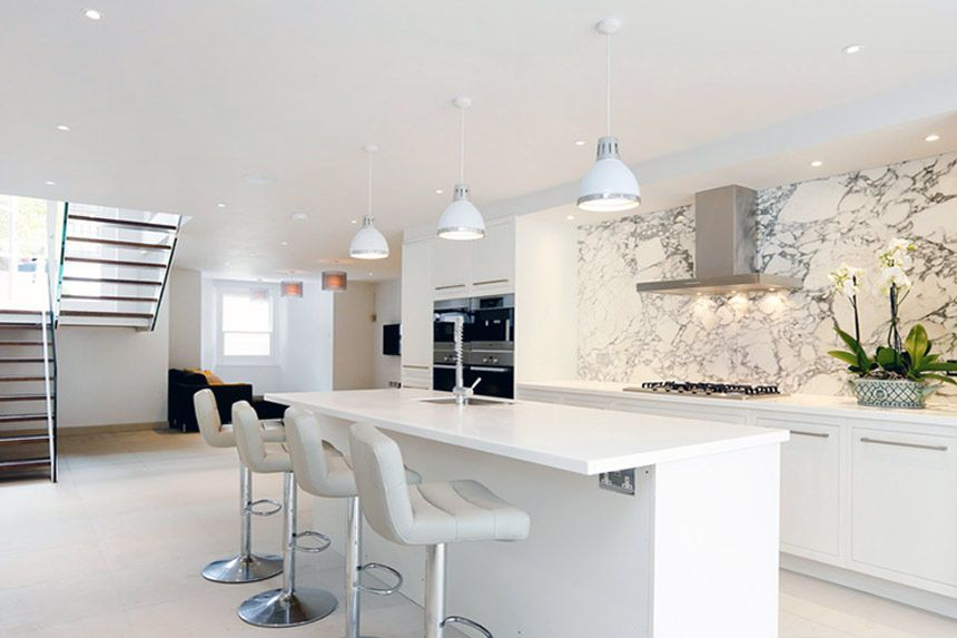 Contemporary White Kitchen Ideas U Inside Inspiration Decorating