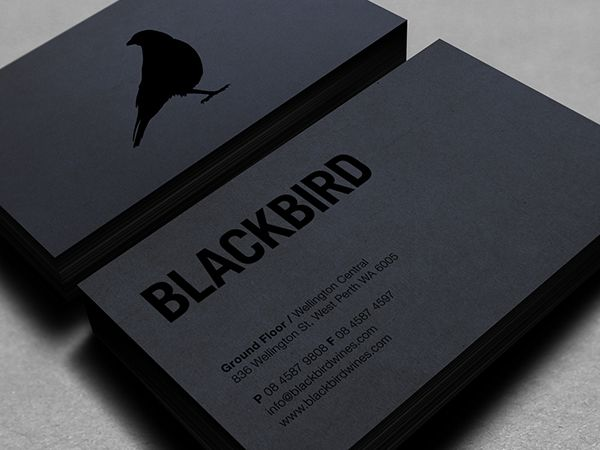 40 cartes de visite originales et surprenantes pour votre shades of grey blackbird business card design black print on black paper this is business card love colourmoves