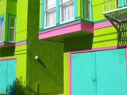 Lime Pink Purple Turquoise Cottage •~• exterior