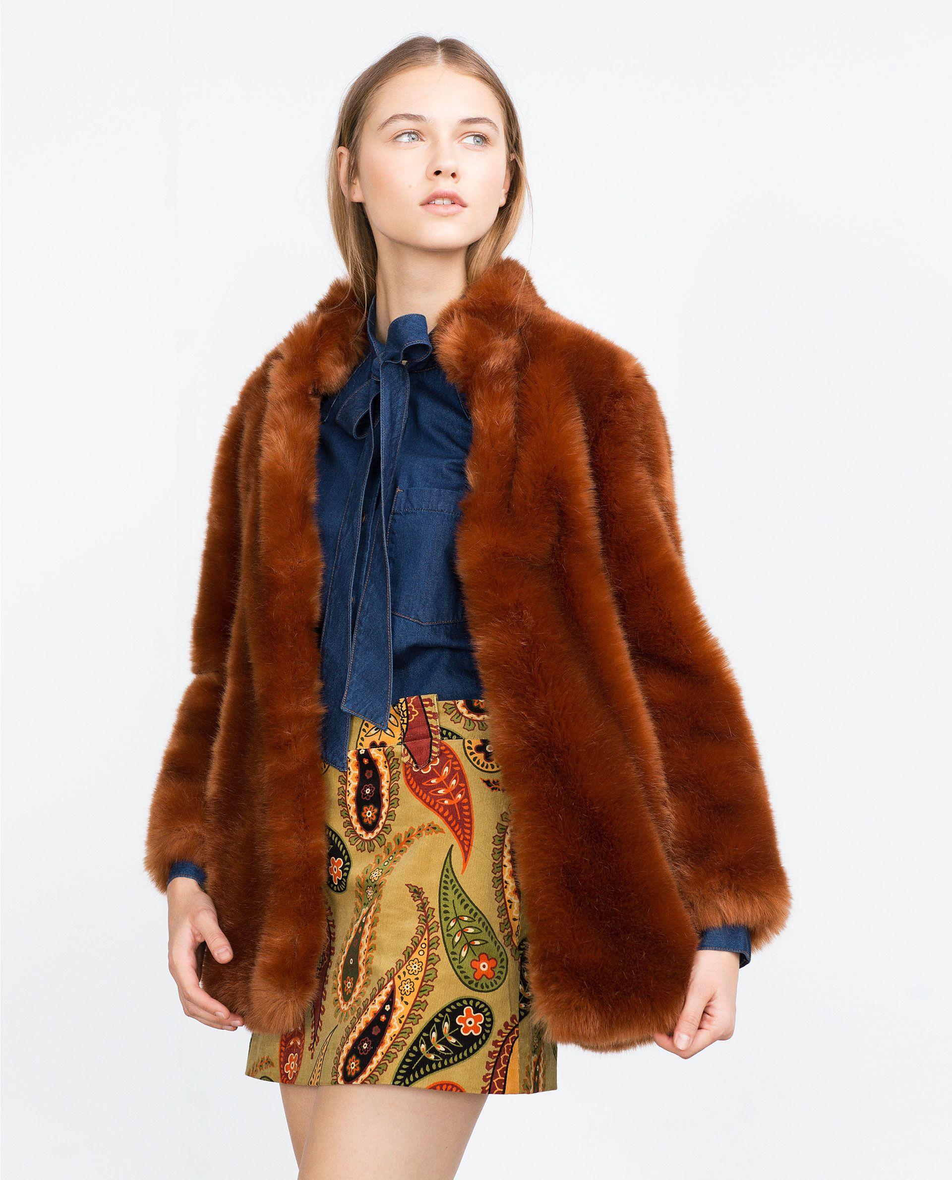 c6a98975b2 FAUX FUR COAT - View all - Outerwear - WOMAN | ZARA Ukraine | zara