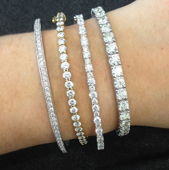 Diamond Tennis Bracelets Are Elegant Timeless And A Must Have For Every Bride On Her Big Day Tennis Bracelet Diamond Jewelry Diamond Bracelet