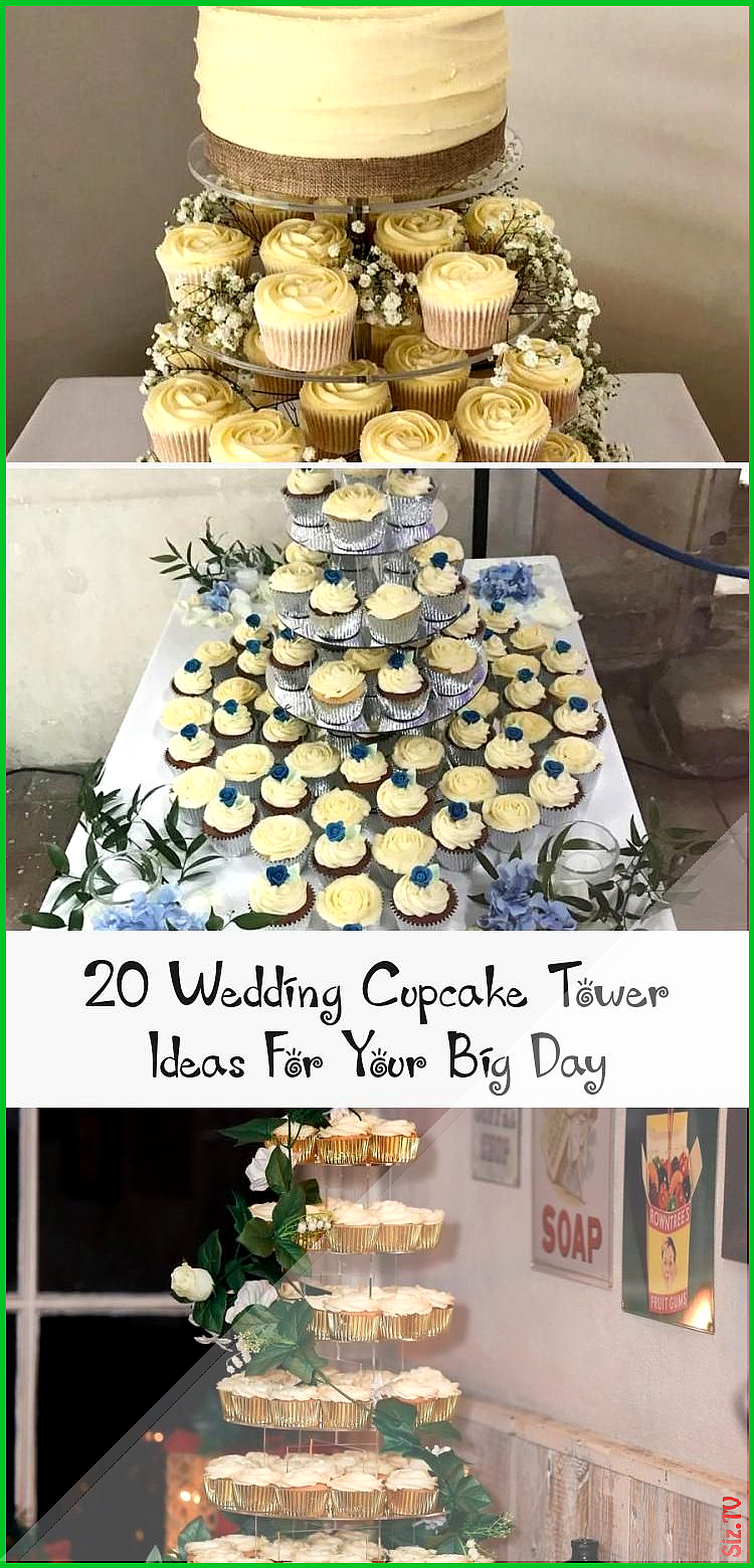 White and gold cupcake tower Winterweddingcakesflavors weddingcakesflavorsLemon Italianweddingcakes