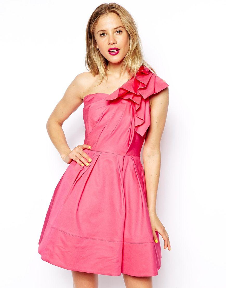ASOS+Origami+Shoulder+Dress   Dress Heaven   Pinterest   Shoulder ...