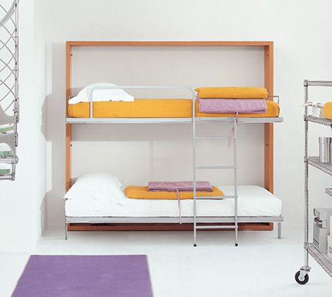 Lollipop | ResourceFurniture. Bunks that fold into the wall to maximize space.