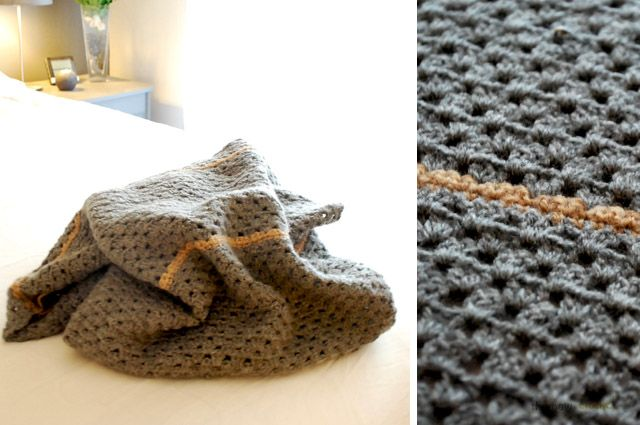 the new crochet: Striped decorative bed end cover (+ pattern)