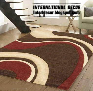 Brown And Red Rug Style, Contemporary Rug Style, Modern Rug Model Picture