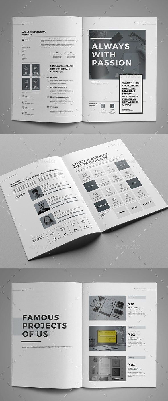 30 indesign business proposal templates design for Diseno publicitario pdf