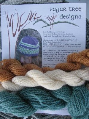 hat knitting kit with my pattern!