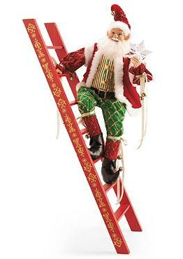 add a little cheer to your christmas display with the animated climbing ladder elf that is sure to delight your guests - Animated Christmas Elves Decorations
