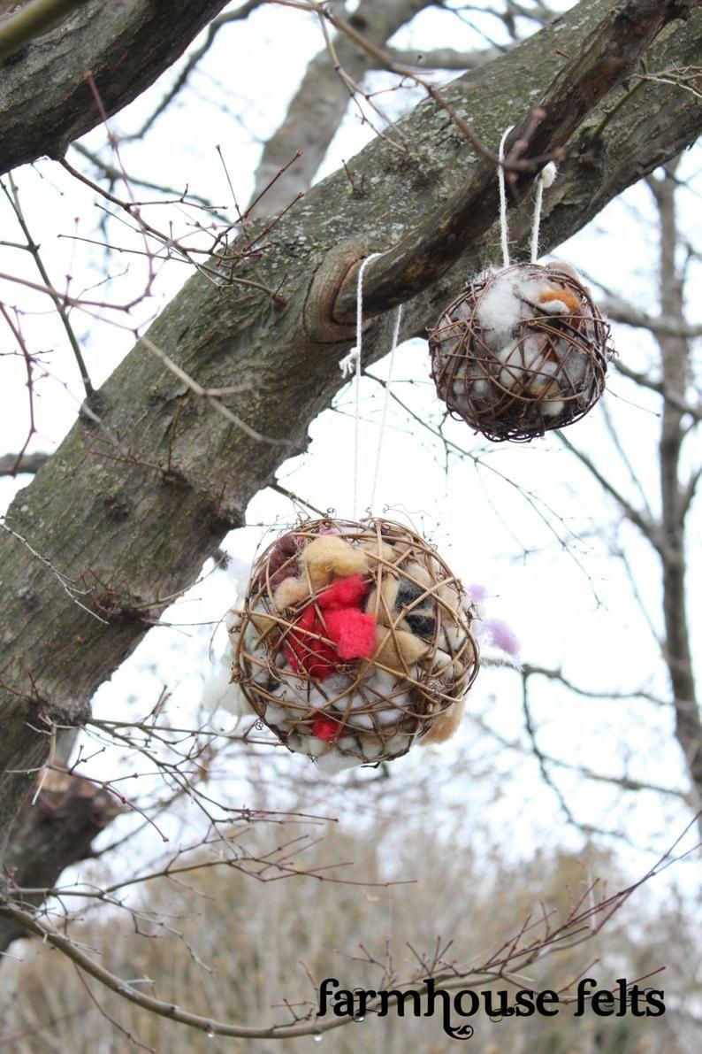 Bird nesting ball nest offering ball woolen bird ball