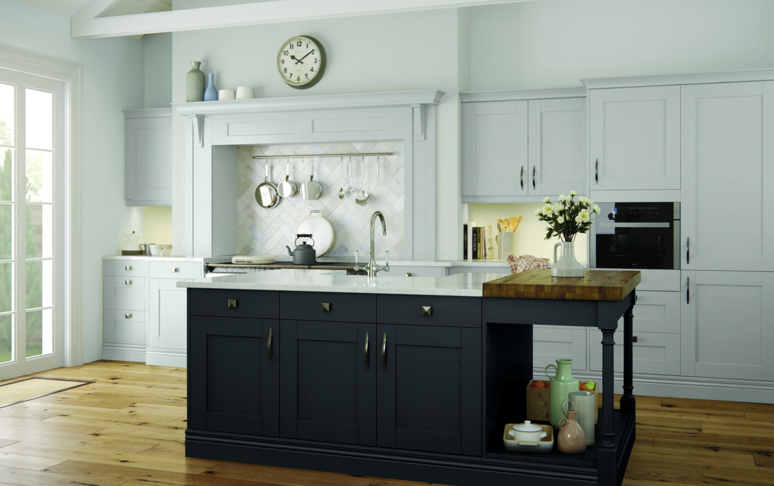 The Clarkwell Collection Kitchen in Graphite + Light Grey - 10-year ...
