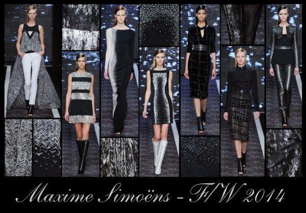 Crafty Lady Abby: PARIS FASHION WEEK F/W 2014: Maxime Simoëns