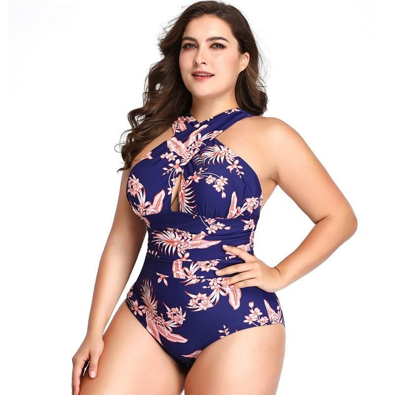 Lucy Coco Handpicked Product Plus Size Floral One Piece