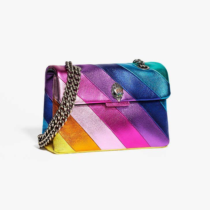 c6e5c4822b Shop LEATHER KENSINGTON BAG Rainbow Stripe Shoulder Bag by KURT GEIGER  LONDON at official Kurt Geiger Site.
