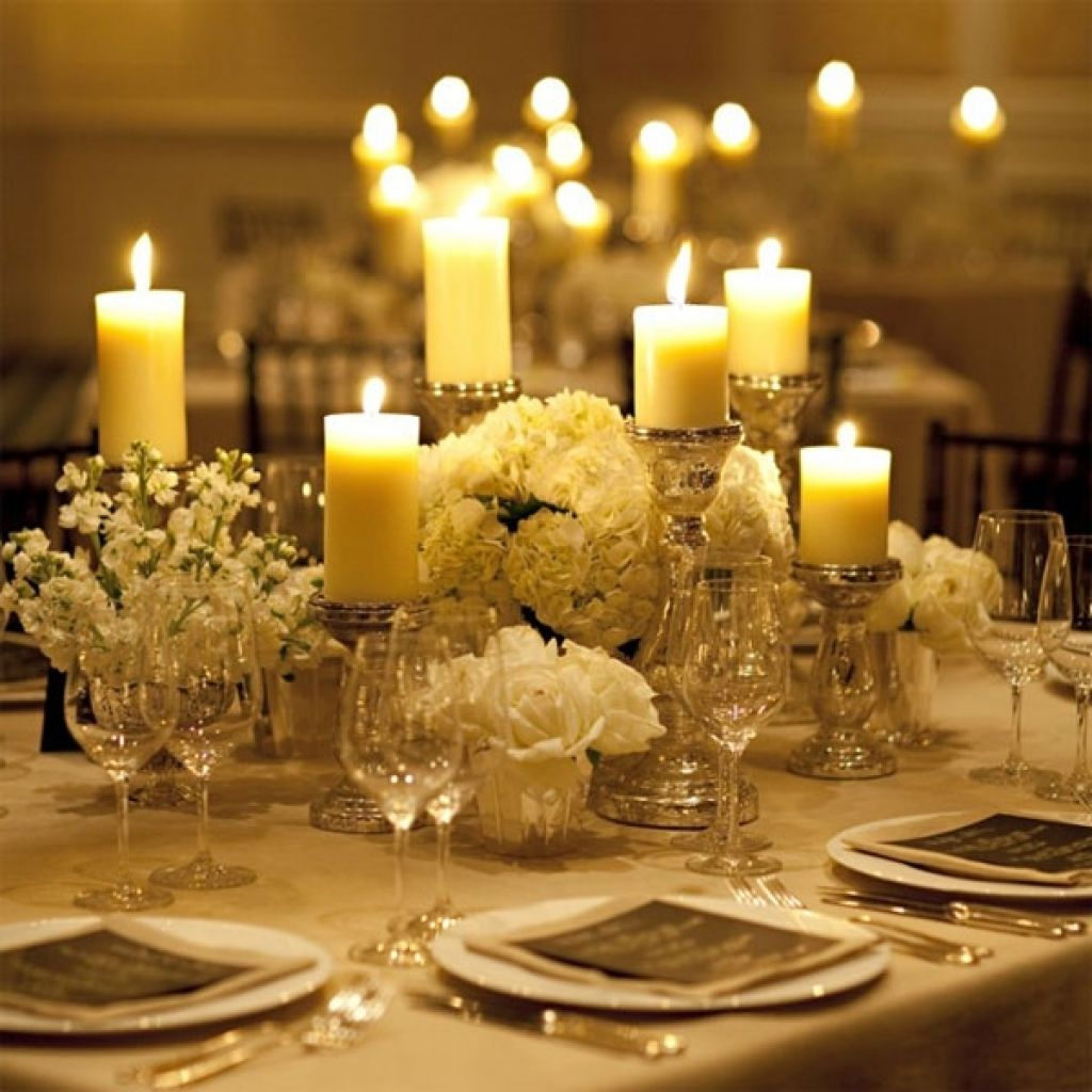 Wedding Reception Centerpieces Candles: Wedding Table Candle Centerpieces Ideas Wedding Decoration