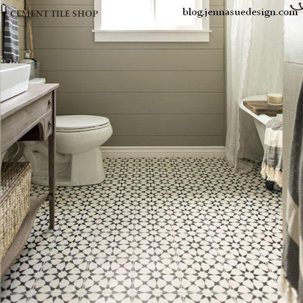 Cement Tile Shop - Encaustic Cement Tile Agadir White | Bathrooms ...