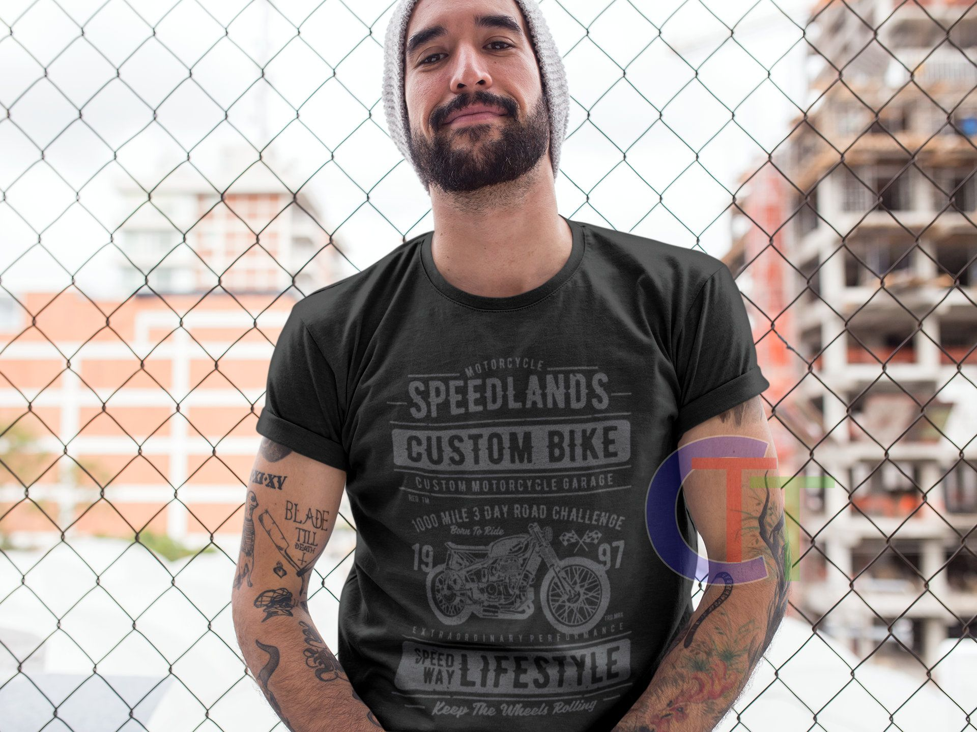 Mens Adult Motorbike shirt – Speedlands motorbike – Adult womens motorbike Shirt -speed and power motorbike ladies motorbike graphic shirt