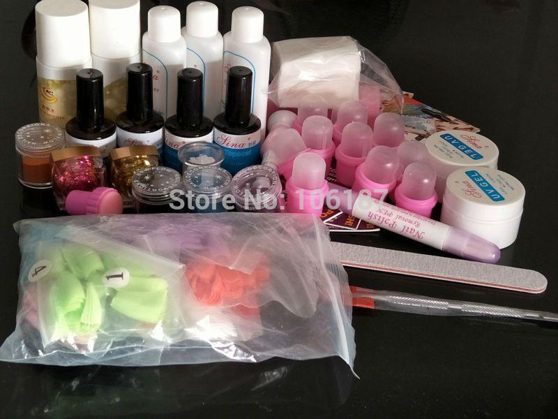 To Ru Only Nail Art Kit Set Nail Brush File Colorful Nail Fake ...