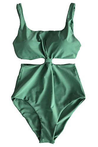 a3b0981bdcb Women's Bikini Swimsuits - Cupshe Fashion Womens Doublelayered Padding  Onepiece SwimsuitGreen -- You can get additional details at the image link.