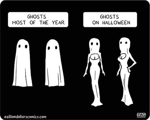 Ghosts on Halloween funny tumblr meme halloween humor ghosts halloween humor meme quotes ...