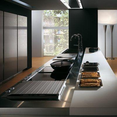 Cocinas Modernas De Acero Inoxidable Arkigrafico Cocinas Modernas Muebles De Cocina Modernos Diseno De Interiores De Cocina