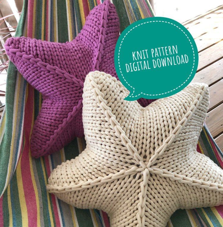 Knit Star Pillow Pattern Digital Download Knit Star Pillow Etsy In 2020 Pillow Pattern Knit Crochet Pillow Pattern Pillow Pattern