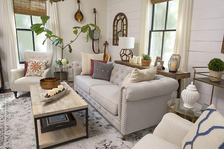 A Modern Farmhouse Living Room