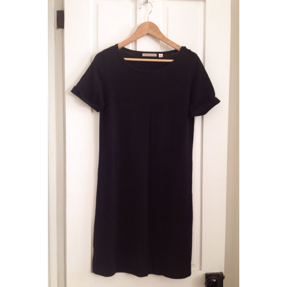Uniqlo black extra fine merino wool tee dress the shop pinterest