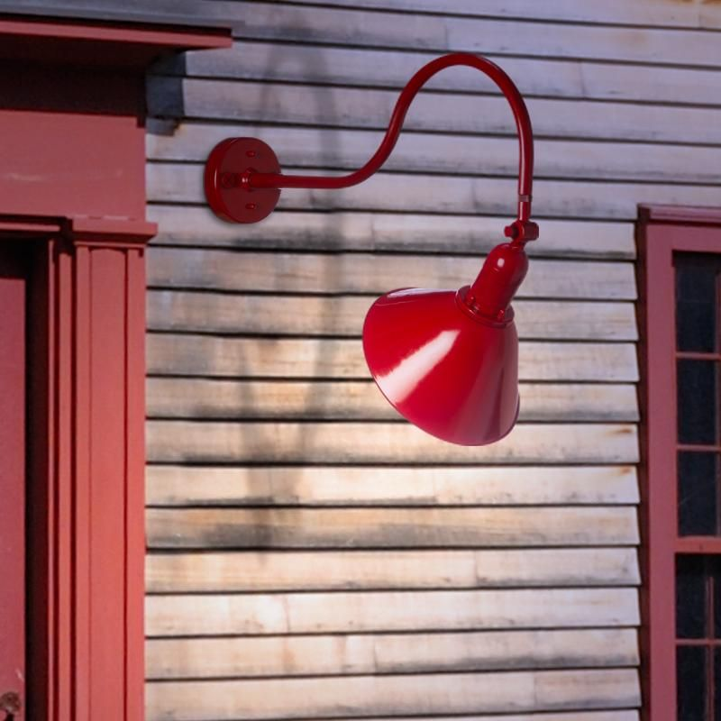 Red Gooseneck Barn Light Recessed Bulb View Barn Lighting Sign Lighting Barn Signs