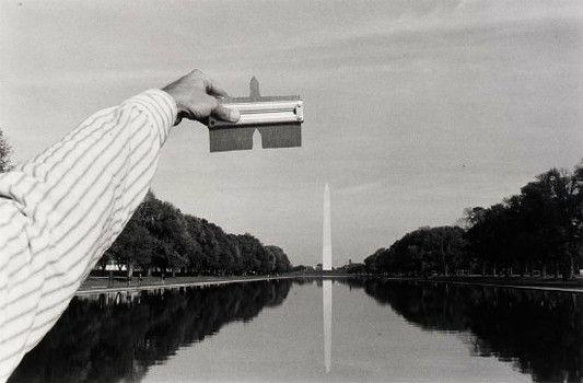 "Kenneth Josephson, ""Washington, D.C. 1975, from Archaeological Series, 6 Inch Contour Gauge"", 1975, gelatin silver print"
