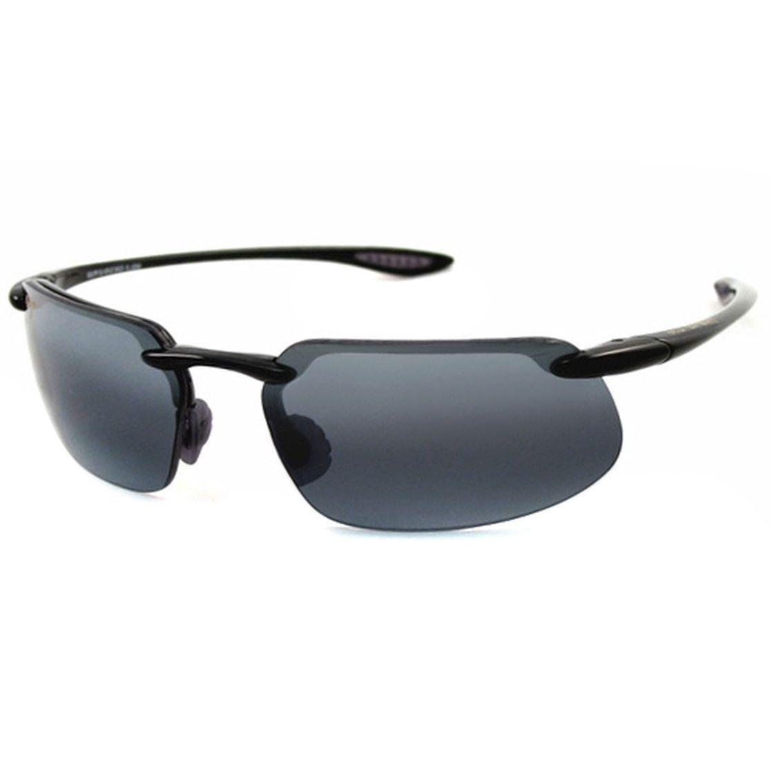 5da7de315d2400 Maui Jim Men s  Stingray Kanaha  Black Polarized Sport Sunglasses ...