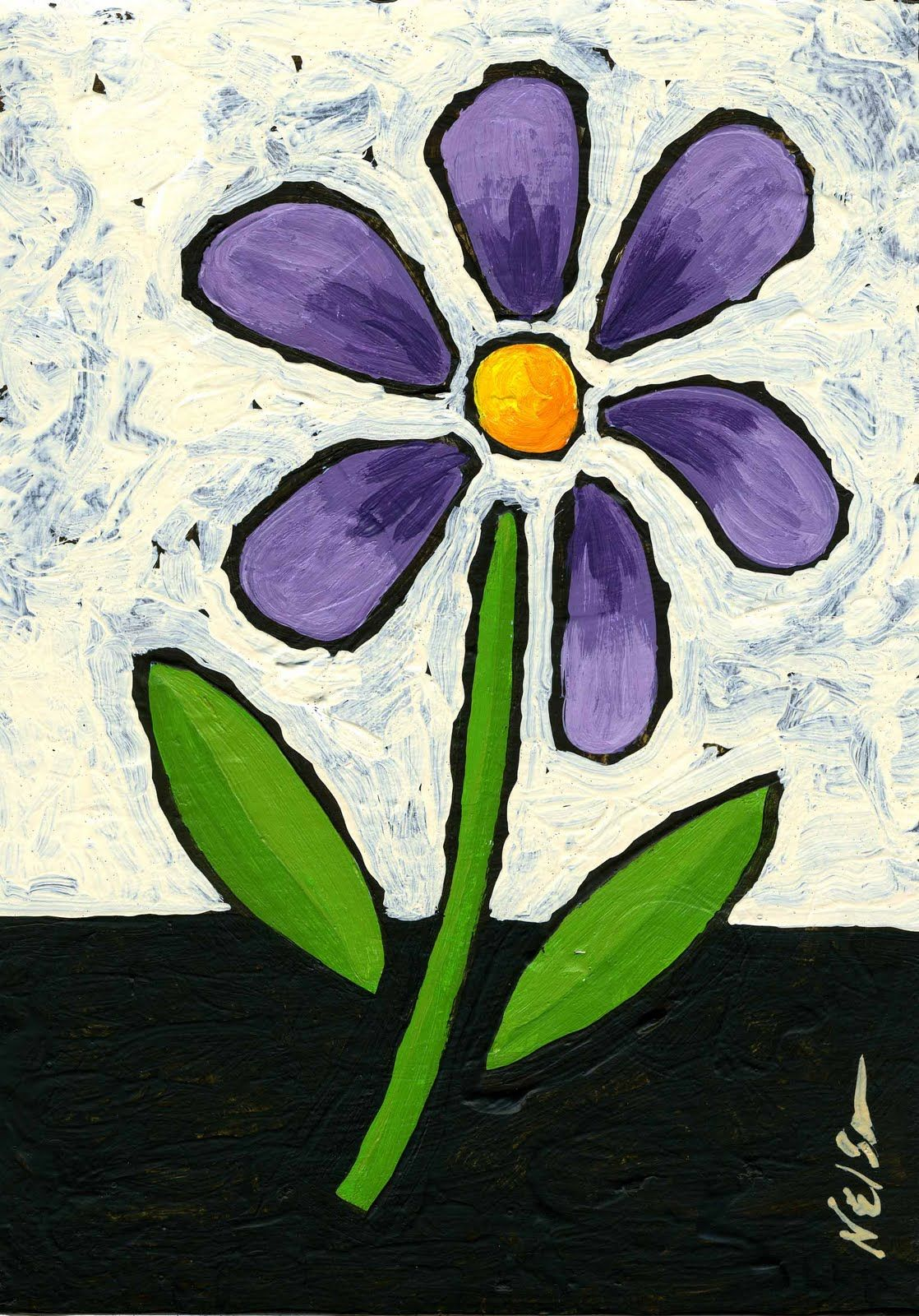 Easy Flowers To Paint For Beginners Images Pictures Becuo Easy Flower Painting Flower Painting Simple Canvas Paintings