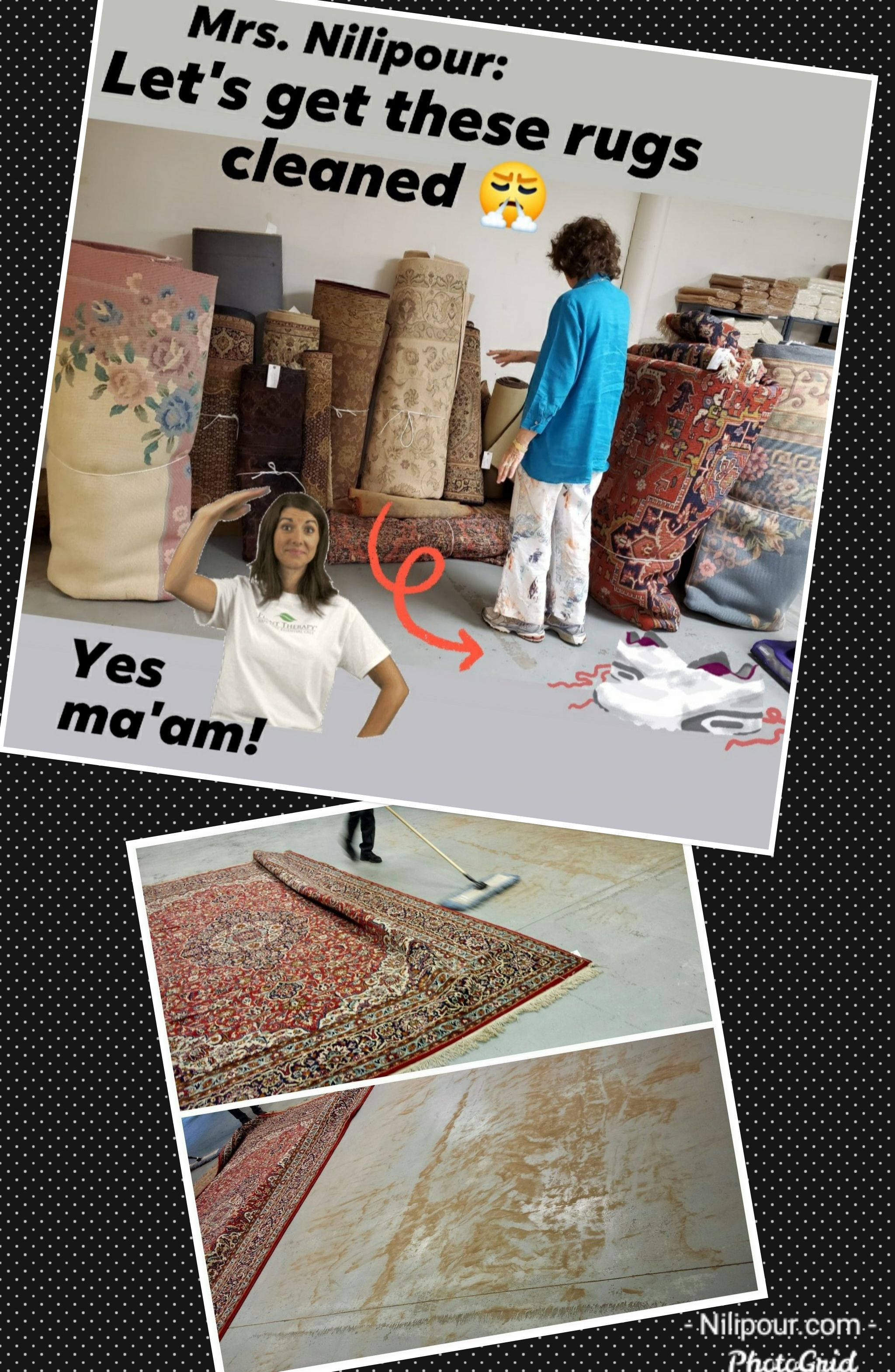 Have you seen what comes out of your rugs?  We are here to CLEAN and DISINFECT your area rugs and runners!   Don't neglect your investment...and don't neglect your health! Maintaining cleanliness is the essential part of healthy living.  #NilipourOrientalRugs #familybusiness #since1972 #rugcleaning #arearugcleaning #orientalrugcleaning #rugdisinfecting #rugrestoration #orientalrugrestoration #arearugrestoration #yourhealthmatters #cleanlinessisGodliness
